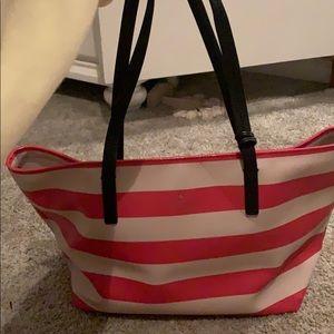 Kate spade red & white bag w/ black straps